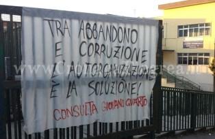 La protesta alla scuola Gobetti dello scorso dicembre