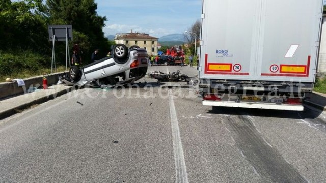 Isernia: incidente stradale