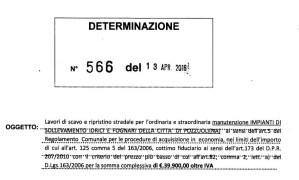 DETERMINA 566 DEL 13 APRILE