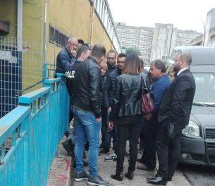 Polizia e carabinieri al Secondo Policlinico