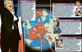 I compagni di strada di Beppe Grillo: in Europa nazisti e fascisti: Le Pen, Petry & C, in Italia D'Alema, Berlusconi, Monti e tanti altri che l'hanno rovinata