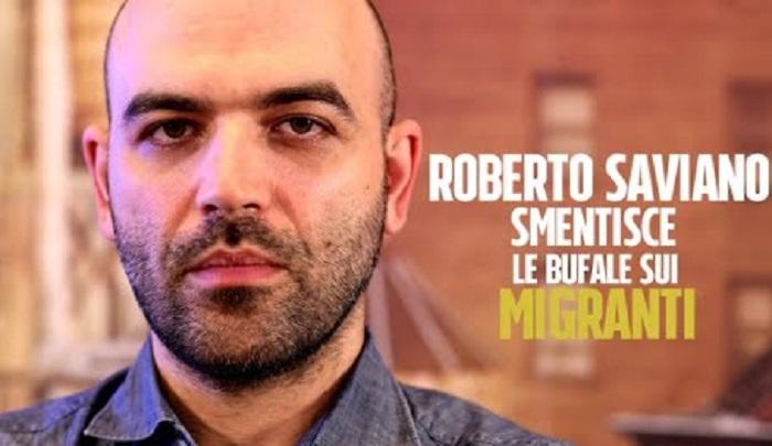 """Saviano porta in home page di Repubblica il sito Fan Page e """"smonta 10 bufale sui migranti"""""""