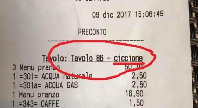 """Roma, tre ragazze al ristorante giapponese, sullo scontrino: """"tavolo ciccione"""""""