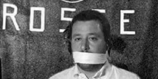 """salvini furioso per il fotomontaggio """"prigioniero"""" delle Br come moro"""