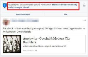 """Facebook elimina foto Shoah: immagini di nudo dei deportati. Poi il ripristino: """"Rimosso casualmente"""""""