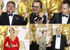 Oscar 2018, vincono i pronostici: La forma dell'acqua miglior film, Guillermo del Toro miglior regia