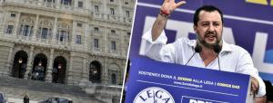 """Cassazione: """"Sequestrare ovunque i soldi della Lega"""". Salvini: """"Mai visti soldi, processo politico"""""""