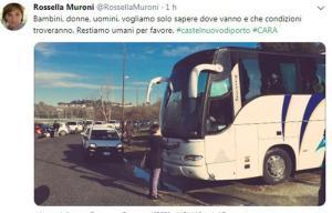 Castelnuovo di Porto, deputata Muroni di Leu blocca pullman con migranti a bordo