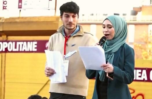 """Nibras Asfa, sardina con hijab. Centrodestra: """"E' vicina a Hamas"""""""
