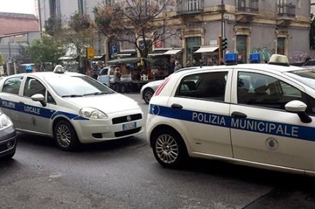 Polizia Municipale al Viale Rapisardi