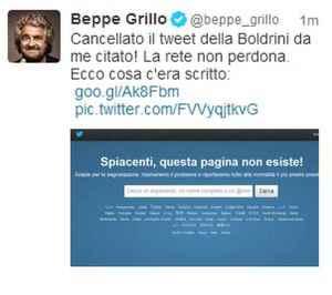 Grillo e la Boldrini si fanno i dispetti su twitter