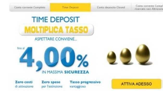 Bccforweb, conto deposito e conto corrente online
