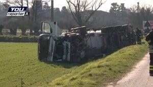 Boffalora, mega incidente stradale: si rovescia un'autocisterna