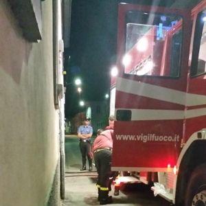 Ossona, intervento dei vigili del fuoco nella notte