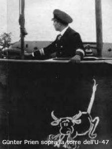 Günter Prien sopra la torre dell'U-47