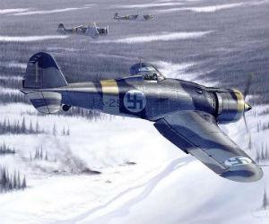 aerei caccia fiat G.50 con particolari coccarde finniche