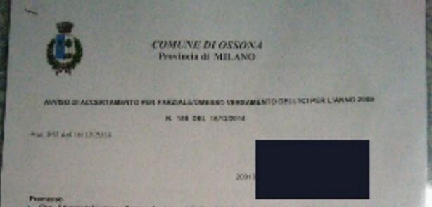 Cartelle pazze a Ossona: accertamenti Imu e Ici a Gogo