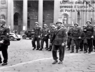 Uomini della decima mas a Mialno, corso di porta Venezia