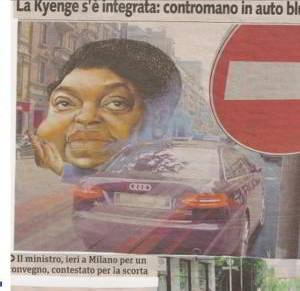 10 domande: onorevole Kyenge, ci risponde? fonte, collage da Libero e da Metro)