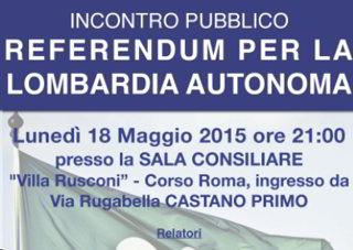 Castano Primo sull'autonomia della Lombardia