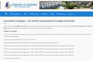 Mercoledì consiglio comunale a Ossona