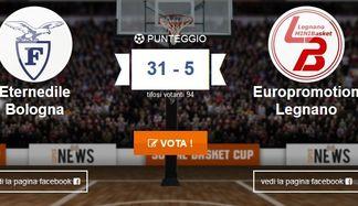bologna-legnano Social Basket Cup: Legnano sfida Bologna negli ottavi di finale Prima Pagina Sport