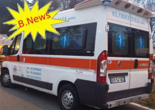 ambulanza ad asmonte incidente bicicletta