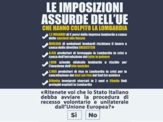lombardexit Unione europea. Dopo il Venexit ecco il Lombardexit. La Lombardia prepara il referendum Politica Prima Pagina