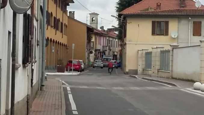 Investimento di un ciclista a Ossona