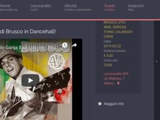 bruscoleoncavallo Serata Raggae con Brusco al Leoncavallo Spettacoli
