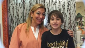 Jake Cantafio gets his traditional metal braces off