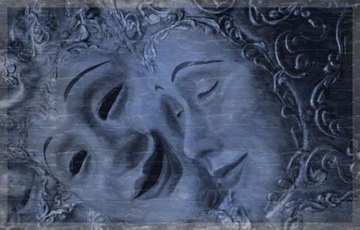 Imagini pentru o masca rade , alta plange