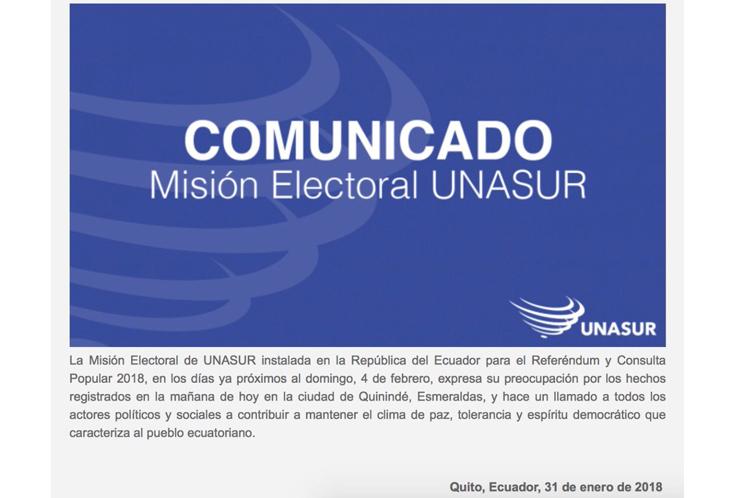 Moreno llama a unidad en Ecuador para encarar