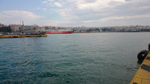 El puerto del Pireo.