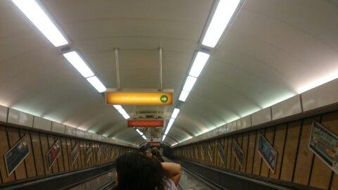 Metro de Budapest.
