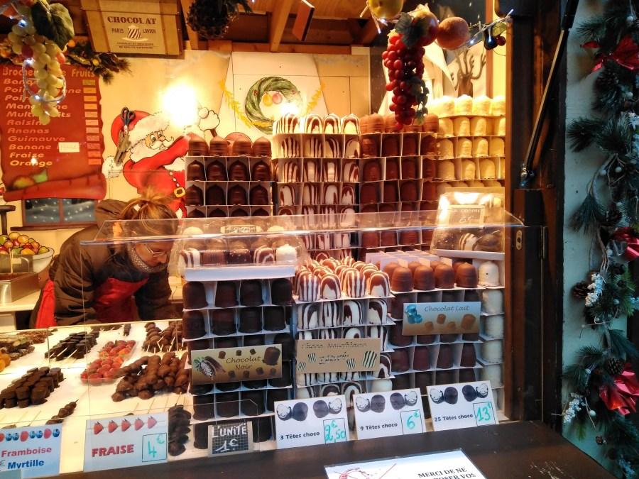 Bolas dulces en los mercados de navidad.