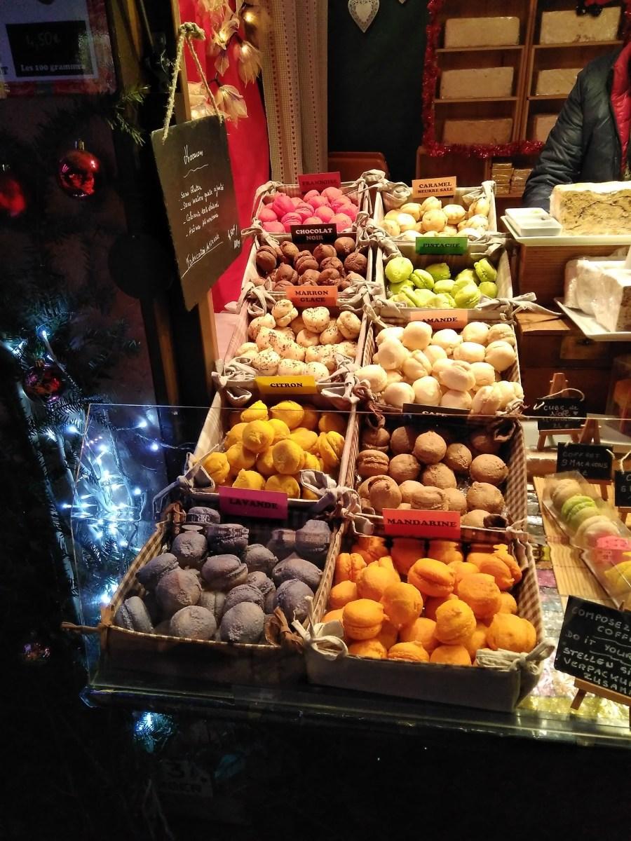 Macaron en el mercado navideño de Colmar.