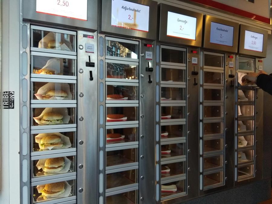 Ámsterdam en 3 días. Máquinas dispensadoras de fast food.