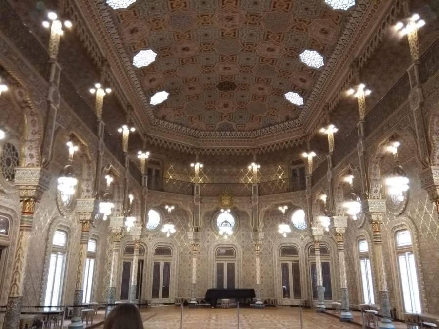 Oporto en3 días. Sala árabe del Palacio de la Bolsa.