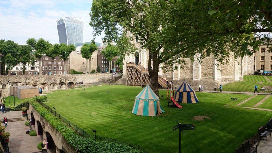 Jardines en la Torre de Londres.