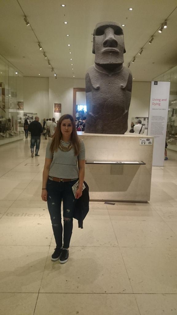 Guerrero Moai en el Museo Británico