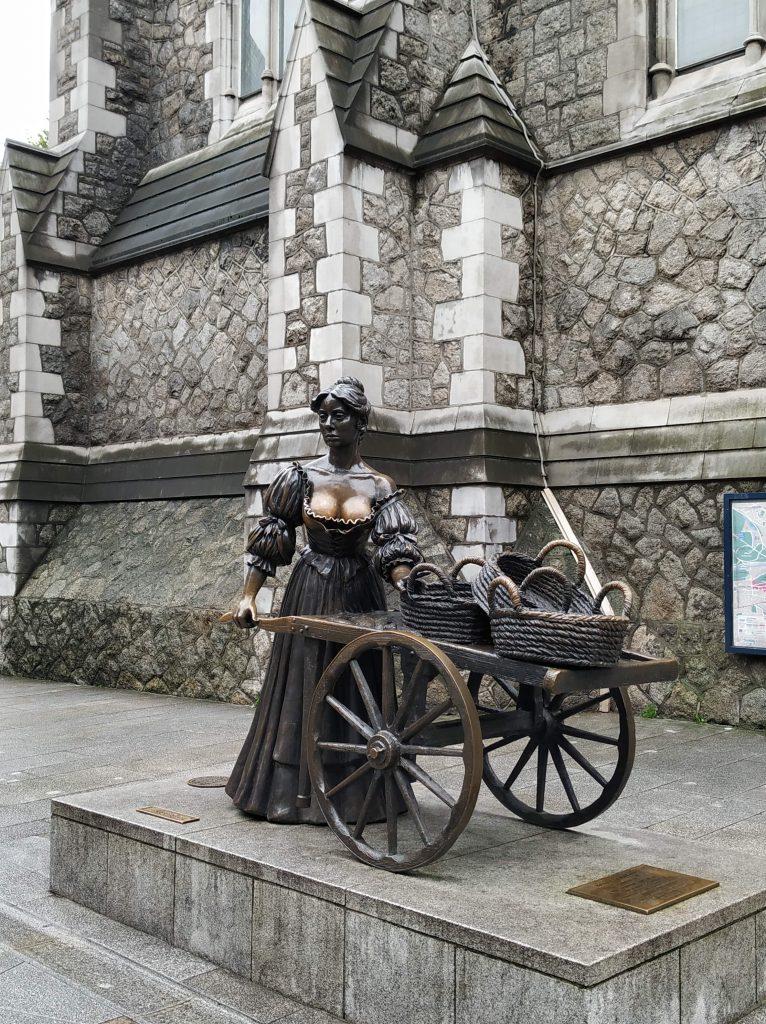 Qué ver en Dublín. Estatua de Molly Malone.