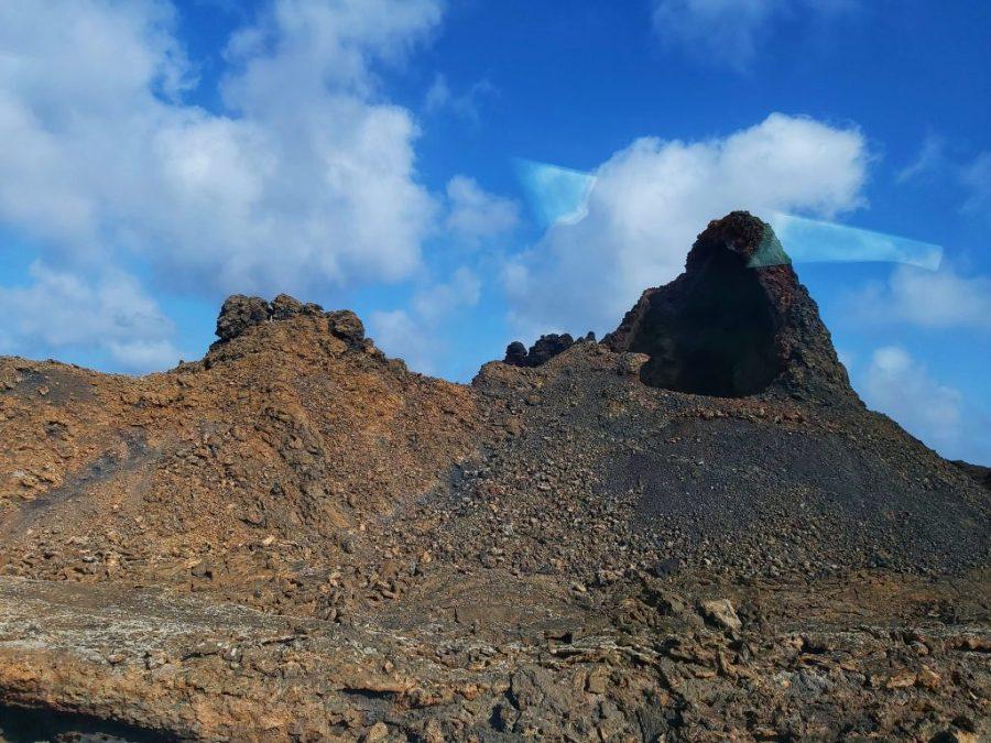 En la boca del volcán.