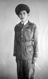 El niño Abigail Bojórquez García. Circa 1945. Fotografía: Archivo del ISC.