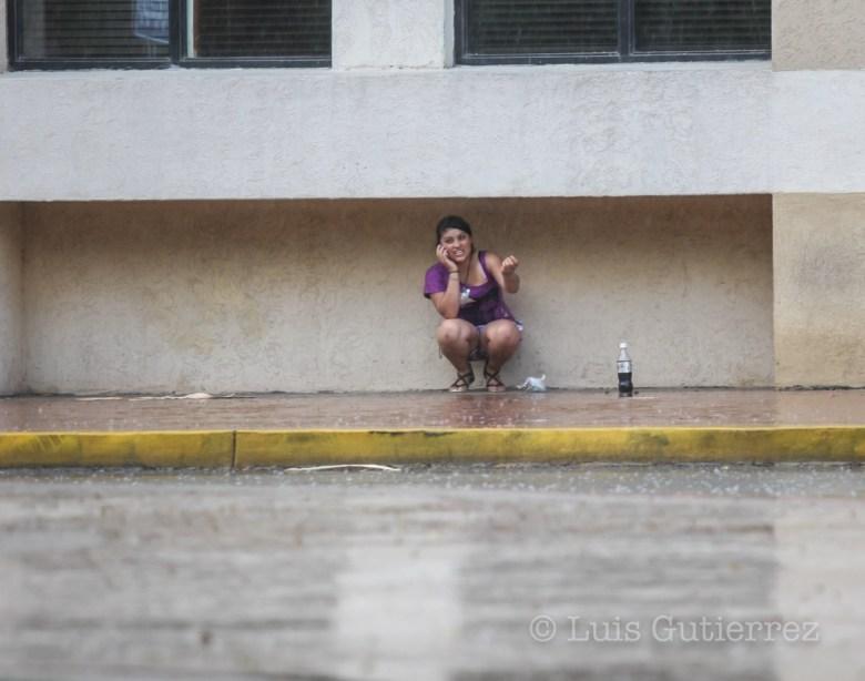 Nuevamente la ciudad de Hermosillo se vio beneficiada con la llegada de una lluvia ligera.