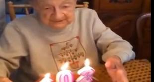 Simtul umorului nu moare nici la 102 ani.