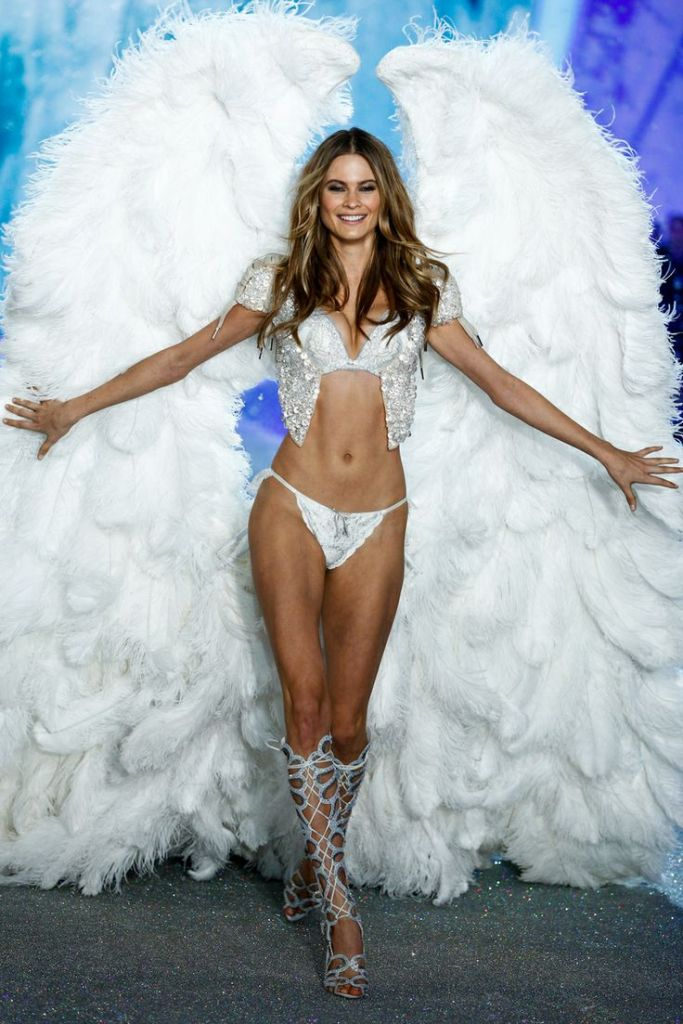 Behati Prinsloo walks the runway at the 2013 Victoria's Secret Fashion Show in New York City on November 13th, 2013