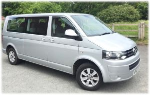 airport transfers 9 seater minibus hire with driver