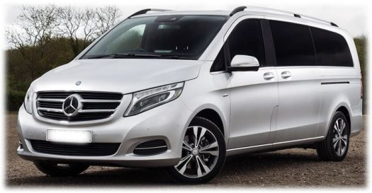 Mercedes Benz V Class 7 Seater - Mercedes Peoples Carrier Hire