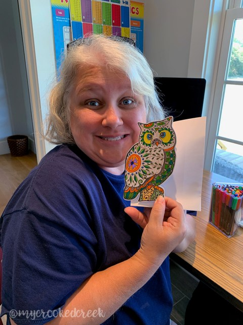 adult coloring cards
